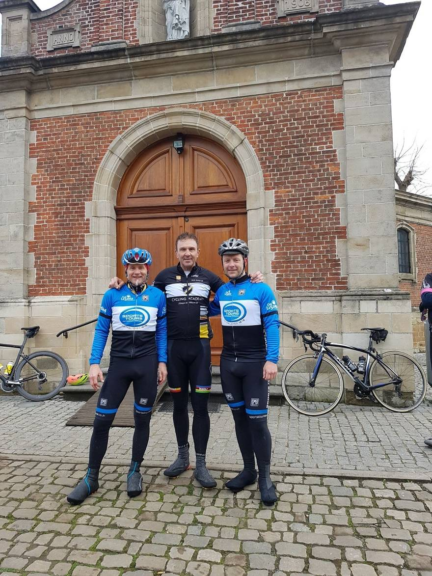 f54c82a190b7b See below the lads with Johan Museeuw atop the Muur van Geraardsbergen and  our vans parked outside the hotel NH Belfort in Ghent where we stay every  year ...