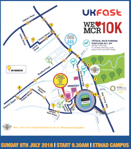 Manchester10k_route map