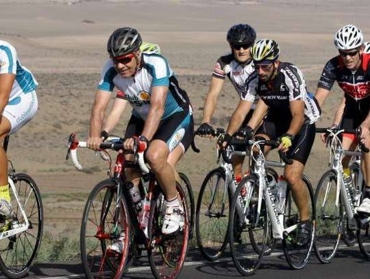 Cycle training in Lanzarote with Rolf Sorensen and Dennis Ritter