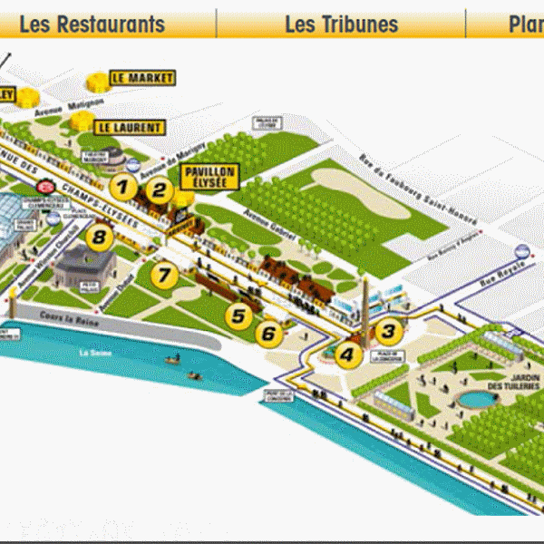 Paris Grandstand hospitality map