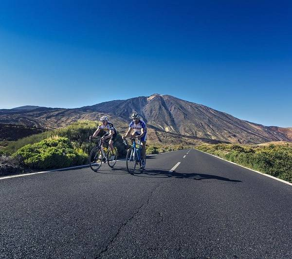 Cycling at the top of Teide in Tenerife