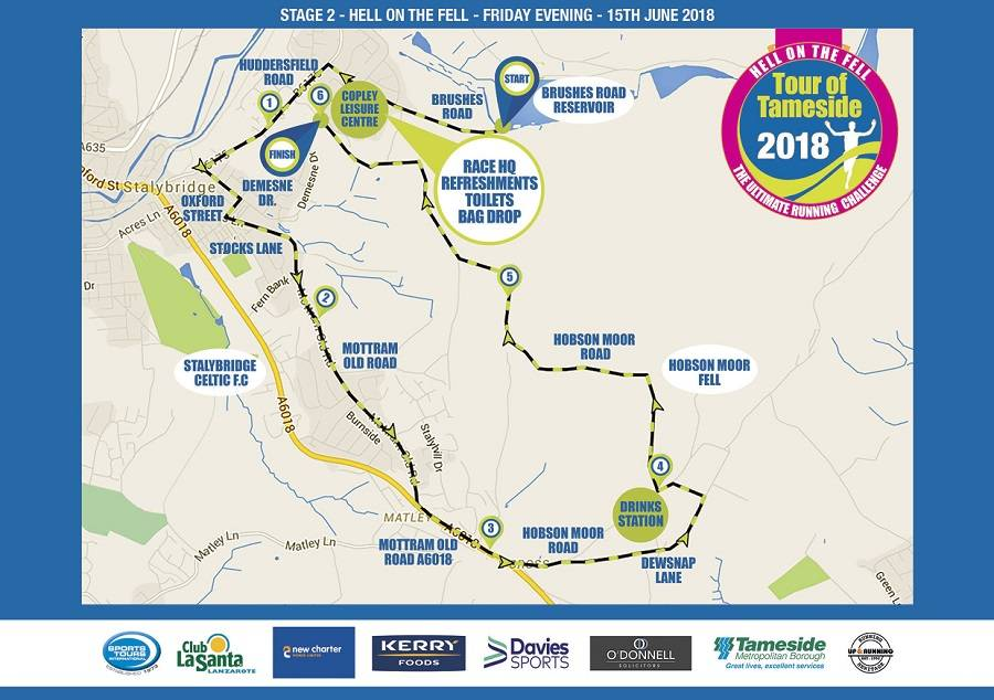Tour of Tameside Hell on the Fell route map