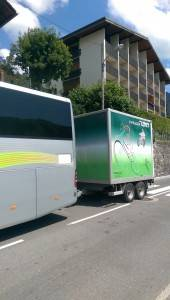 La Marmotte transfers bike trailer