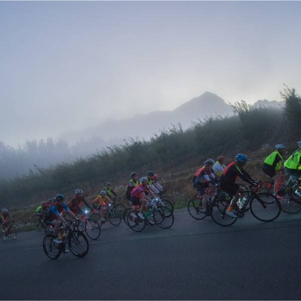 Cape Rouleur cycling in dust