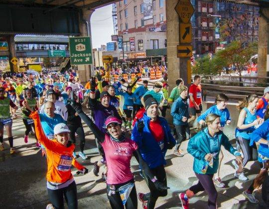New York Marathon 2019 Runners under the bridge